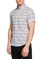 Original Penguin Men's Textured Lawn Short-Sleeve Shirt