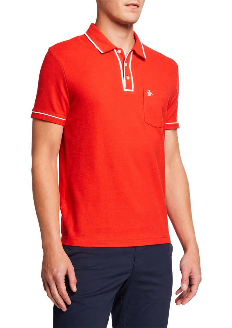 Original Penguin Men's The Earl Contrast-Trim Polo Shirt