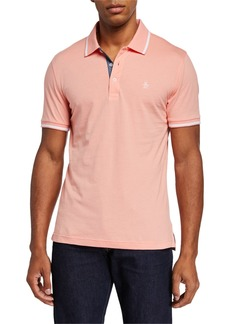 Original Penguin Men's Tipped Short-Sleeve Jersey Polo Shirt