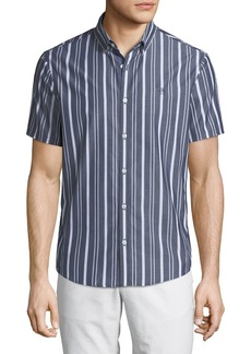 Original Penguin Men's Vertical Striped Short-Sleeve Sport Shirt