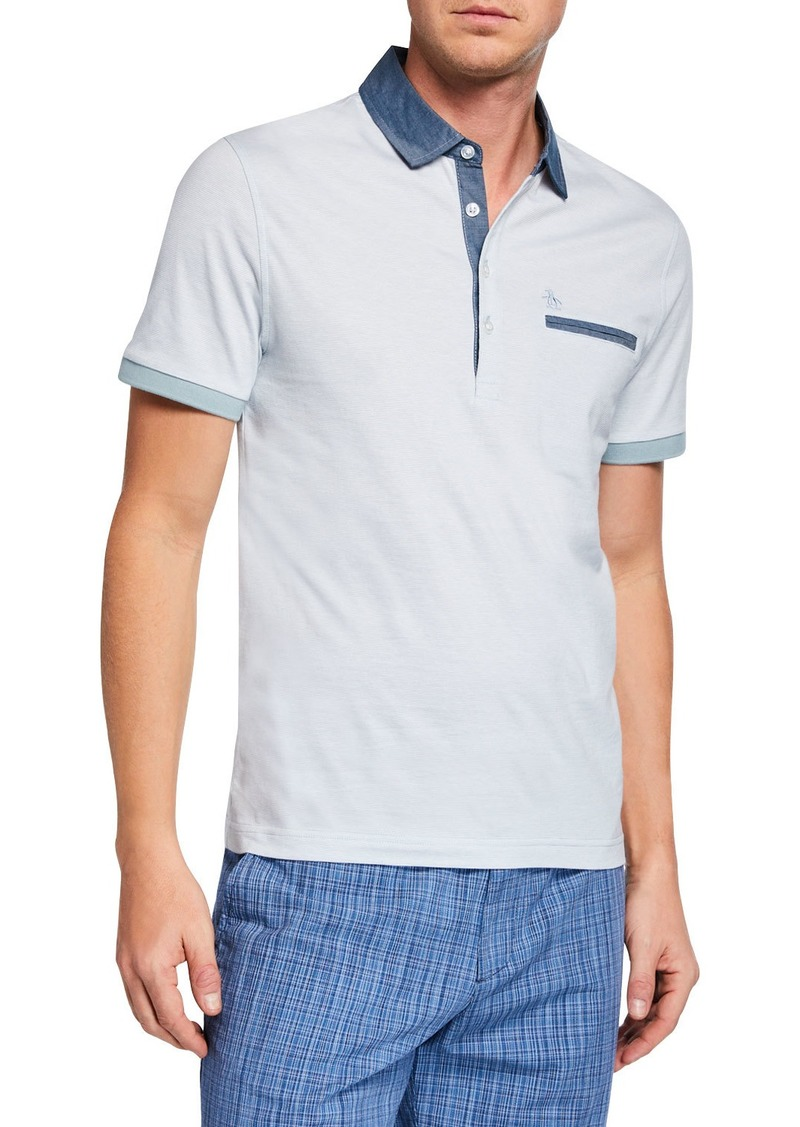 Original Penguin Men's Y D Stripe Polo Shirt