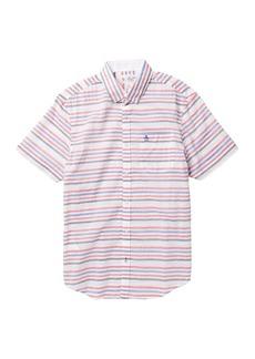 Original Penguin Multi-Stripe Lawn Short Sleeve Heritage Fit Shirt