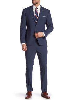 Original Penguin Nested Blue Checked Two Button Notch Lapel Trim Fit Suit