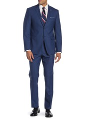 Original Penguin Nested Blue Sharkskin Slim Fit 2-Piece Suit