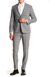 Original Penguin Nested Grey Plaid Two Button Notch Lapel Suit