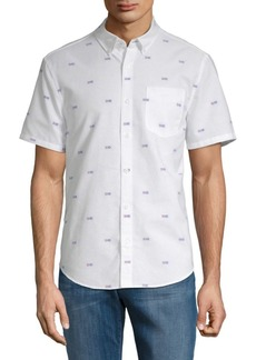 Original Penguin Argyle-Print Button-Down Shirt