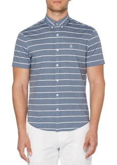 Original Penguin Bouclé Stripe Slim Fit Woven Shirt
