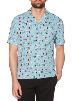 Original Penguin Bowling Print Camp Shirt