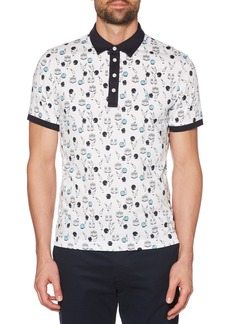Original Penguin Bowling Print Slim Fit Polo