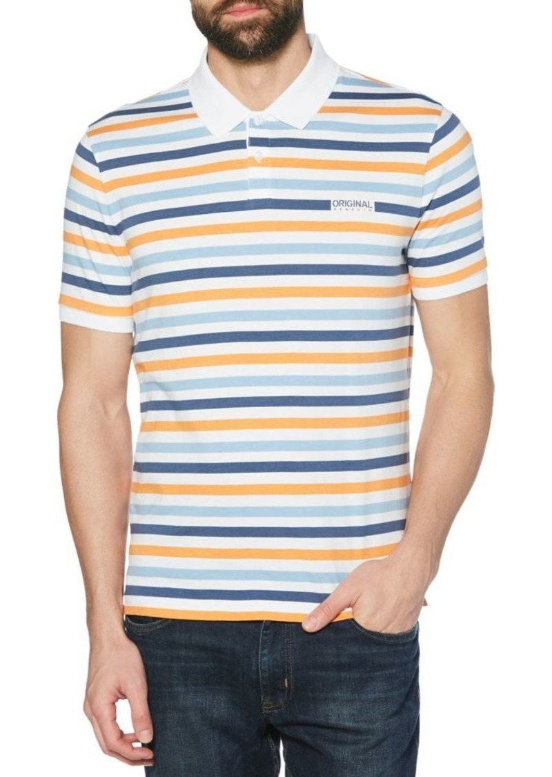 Original Penguin Breton Multi-Striped Polo Shirt