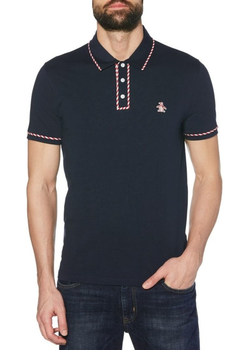 Original Penguin Candy Tipped Earl Short-Sleeve Cotton Polo