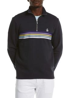 Original Penguin Chest Stripe Quarter-Zip Pullover