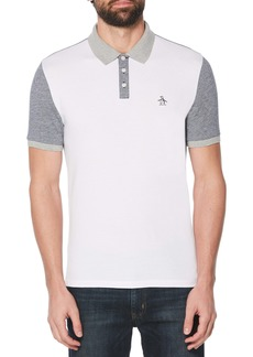 Original Penguin Colorblock Bird's Eye Piqué Polo