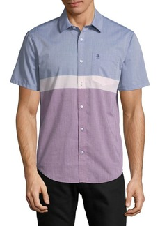 Original Penguin Colorblock Button-Down Shirt