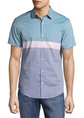 Original Penguin Colorblock Striped Cotton Shirt