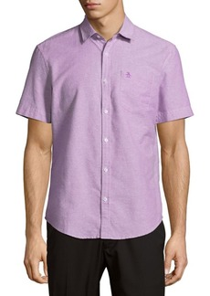 Original Penguin Cotton Short-Sleeve Casual Button-Down Shirt