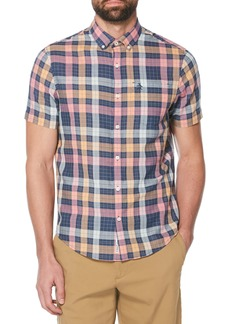 Original Penguin Dad Plaid Slim Fit Lawn Shirt