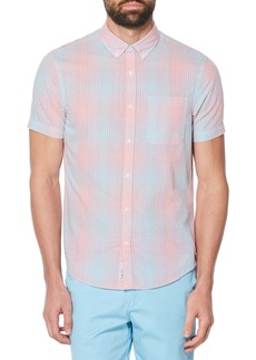 Original Penguin Dégradé Perforated Woven Shirt