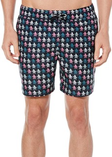 Original Penguin Digital Pete Volley Swim Trunks