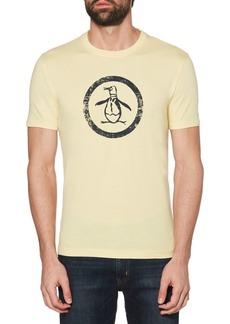 Original Penguin Distressed Circle Cotton Logo Tee