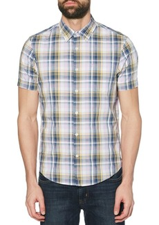 Original Penguin Dobby Plaid Button-Down Shirt