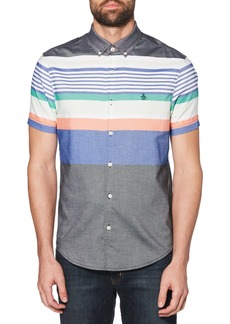 Original Penguin Engineered Stripe Woven Shirt