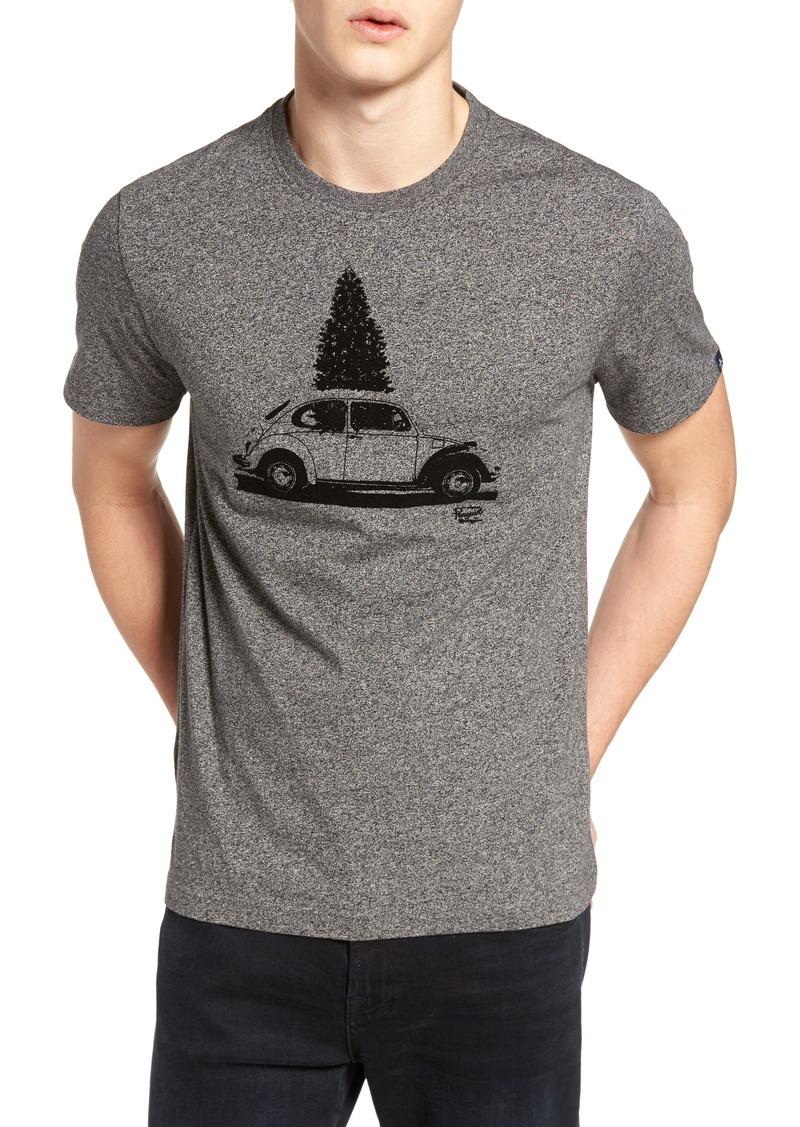 Original Penguin Flocked Christmas Car T-Shirt