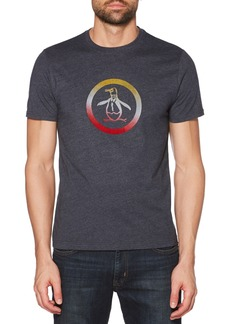 Original Penguin Flocked Ombré Circle Pete T-Shirt