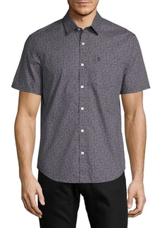 Original Penguin Floral-Print Cotton Button-Down Shirt