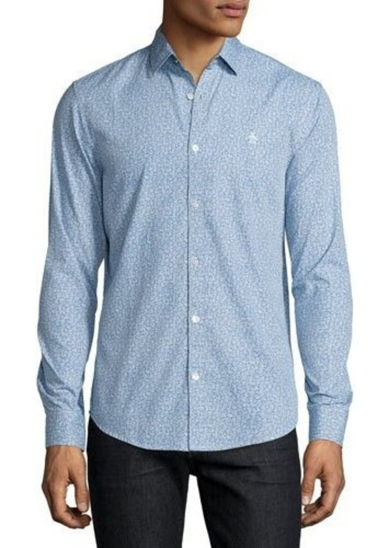 Original Penguin Floral-Print Cotton Shirt