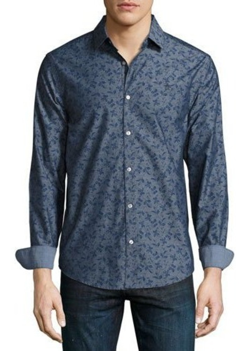 Original Penguin Floral-Print Long-Sleeve Shirt
