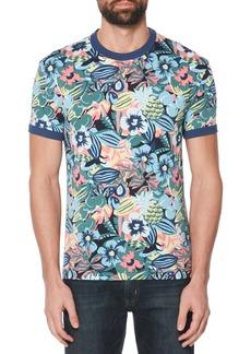 Original Penguin Floral Print Ringer T-Shirt