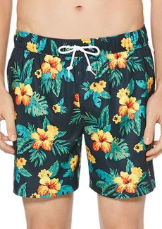 Original Penguin Floral-Print Swim Shorts