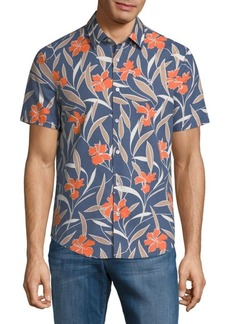 Original Penguin Floral Short-Sleeve Button-Down Shirt