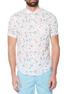 Original Penguin Hawaii Vacation Linen & Cotton Woven Shirt
