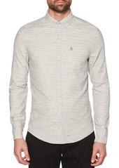 Original Penguin Heathered Twill Slim-Fit Shirt