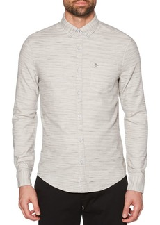 Original Penguin Heathered Twill Slim-Fit Shirt