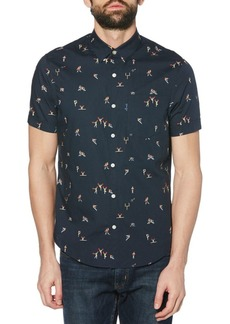 Original Penguin Heritage-Fit Homecoming Conversational Printed Shirt