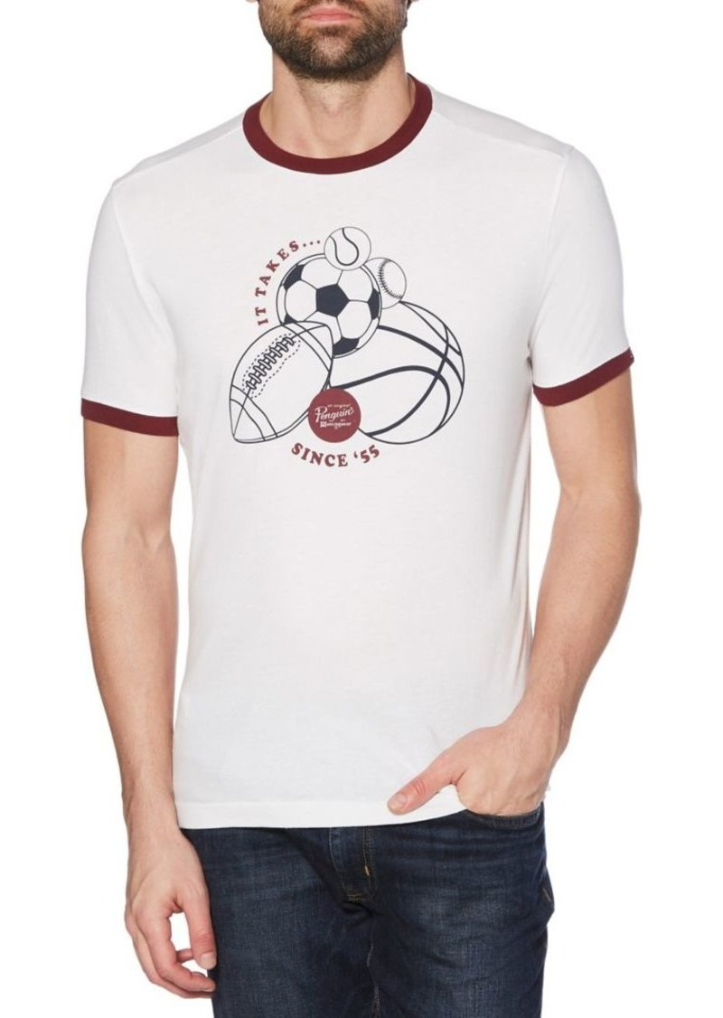 Original Penguin Heritage-Fit Sports Graphic Cotton Jersey Tee