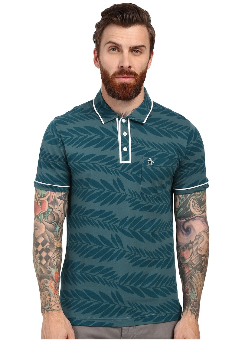 Original Penguin Leaf Print Earl Polo