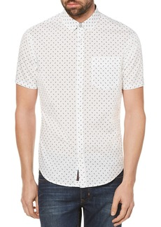 Original Penguin Leaf Print Short Sleeve Button-Down Shirt