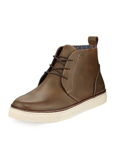Original Penguin Mel Leather Lace-Up High-Top Sneaker
