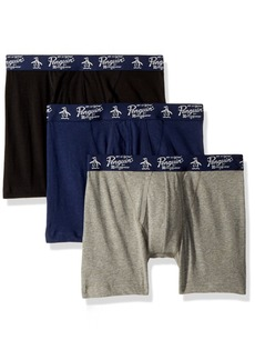 Original Penguin Men's 3 Pack Basic Knit Cotton Boxer Medieval Blue