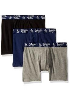Original Penguin Men's 3 Pack Basic Knit Cotton Boxer Medieval Blue