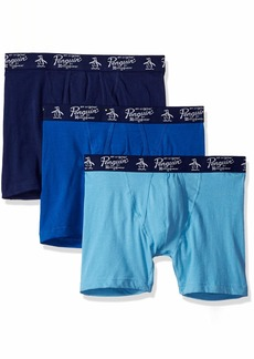 Original Penguin Men's 3 Pack Boxer Briefs Delphinium Classic Medieval Blue L