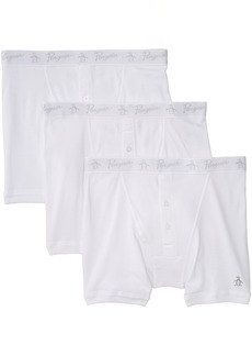 Original Penguin Men's 3 Pack Button Boxer Briefs