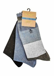 Original Penguin Men's 3-Pack Crew Socks