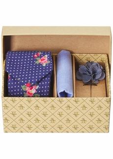 Original Penguin Men's 3-Piece Floral Tie Pocket Square & Lapel Pin Box