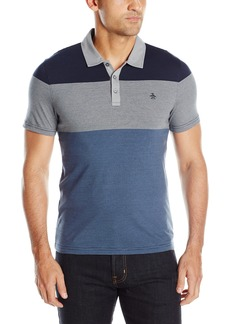 Original Penguin Men's 3 Stripe Colorblock Polo  MONUMNET Extra Extra Large