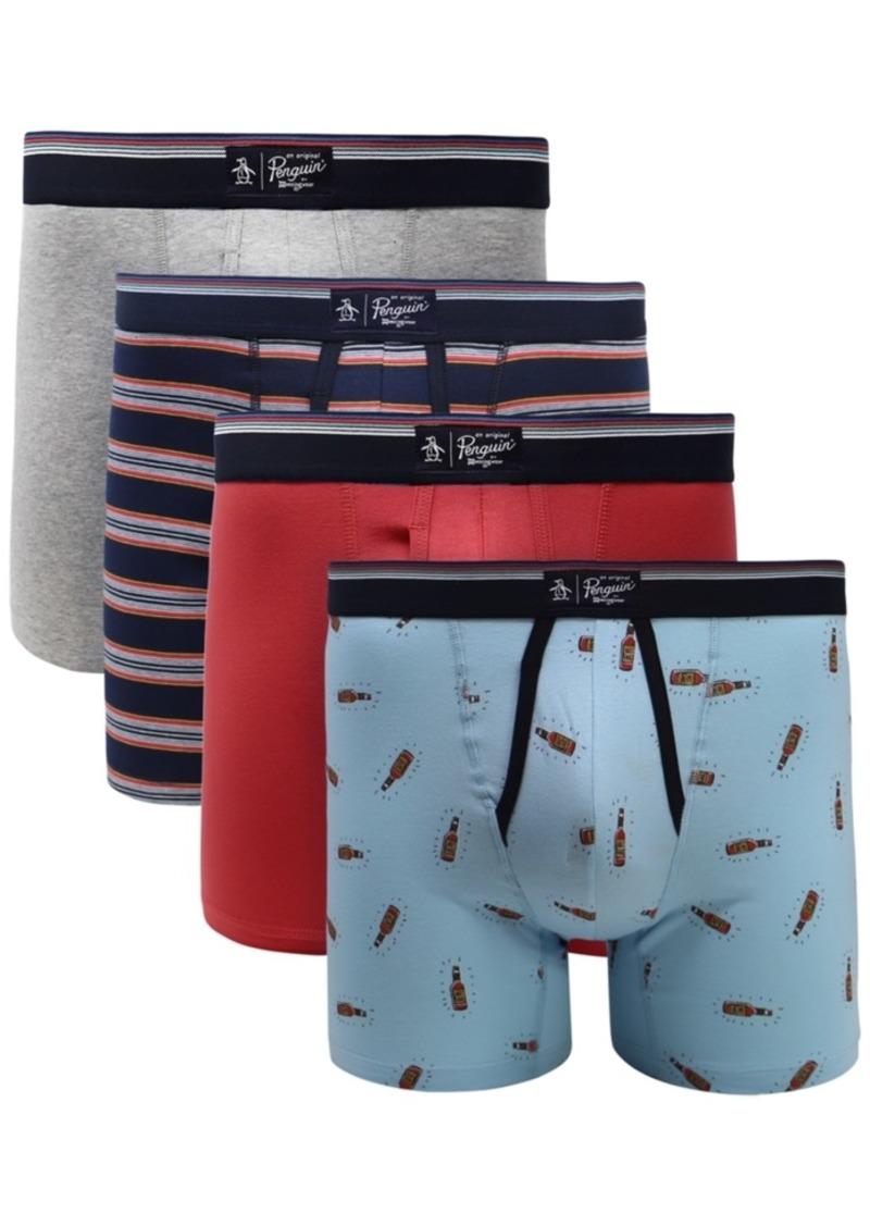 Original Penguin Men's 4-Pk. Graphic Boxer Briefs